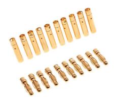 10 pairs 4mm gold bullet (banana) connectors UK Seller