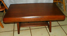 Yugoslavian Made Mahogany Mid Century Modern Coffee Table  (RP)  (CT72)