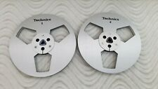 "NEW Technics Reel 7"" METAL REEL 1/4"" Tape Brushed Anodized Aluminum Made in US"