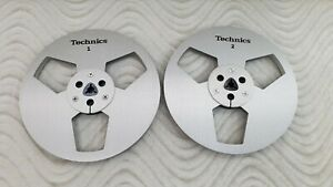 """NEW Technics Reel 7"""" METAL REEL 1/4"""" Tape Brushed Anodized Aluminum Made in US"""