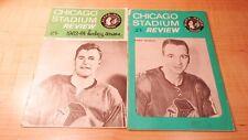 VINTAGE CHICAGO BLACK HAWKS HOCKEY PROGRAMS 1963-64 & 1965-66 RANGERS,CANADIENS