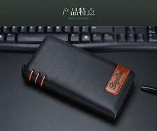 Long Men's Leather Bifold Wallet ID Card Holder Clutch Checkbook Handbag Purse