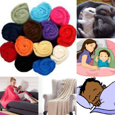 """BED SOLID REVERSIBLE FURNITURE THROW MULTIPURPOSE SMALL BLANKET SIZE 50"""" X 60"""""""