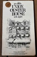 2006 Ye Olde Union Oyster House menu, Boston Mass. America's OLDEST restaurant