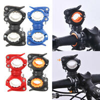 360° Rotation Cycling Bike Bicycle Light Flashlight Clamp Torch Clip Mount Base