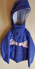 Columbia Girls 4/5 Youth Purple Jacket Coat Removable Hood Pockets