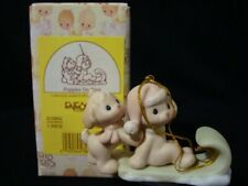Precious Moments Ornaments-Two Puppies On Sled-Retired 2002