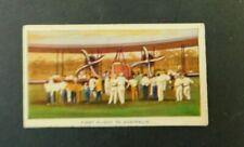 c1940 Hoadleys Trade Card Birth of a Nation #26 First Flight to Australia VGC