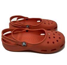 Crocs Karin Mary Jane Clogs Shoes Women's 11 US size Orange color