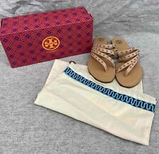 Tory Burch #46775 Studded Calf Leather Sandals Women's 6.5