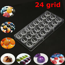 24 Half Ball Clear Hard Chocolate Maker Polycarbonate PC DIY Candy Mold Kitchen