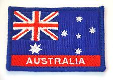 AUSTRALIA FLAG AUSTRALIAN AUS Embroidered Sew Iron On Cloth Patch Badge APPLIQUE