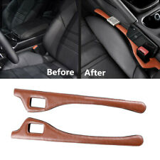 2PCS Left + Right PU Leather Car Seat Side Gap Leak Proof Filler Armrest Box Pad