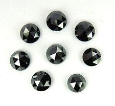 Natural Loose Diamond Round Rose Cut Fancy Black I3 Clarity 3.0 MM 5 Pcs Lot P3