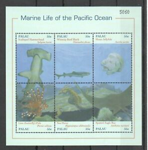 PK100 PALAU FISH & MARINE LIFE OF THE PACIFIC OCEAN 1KB MNH STAMPS