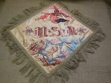 Vintage WWII or WWI US Army Pillow Cover . Very Patriotic Item. (On to Victory)