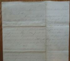 New listing Civil War letter from Catlett's Sta. Private Will Burgess to Mother Oct, 23 1883