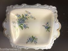 rare Vintage TAB HANDLED DISH Royal Albert FORGET ME NOT flower of the month R/A