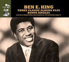 """BEN E KING~THREE CLASSIC ALBUMS +""""STAND BY ME"""" on NEW SEALED 4 CD!!!"""