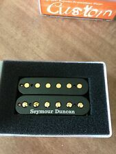 Seymour Duncan SH-5 Duncan Custom Humbucker Pickup Black With Gold Poles NEW