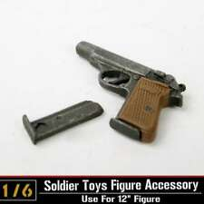 "1/6 Scale Weapon Model Automatic Pistol Walther PPK Gun F 12"" Figure Dragon Toys"