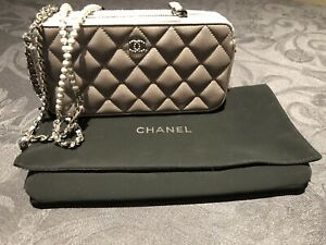 CHANEL silver wallet on chain