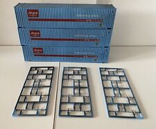 Dapol OO Gauge 3x Argos 45ft Containers Factory Weathered