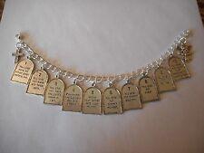 10 Commandments charm bracelet - V1