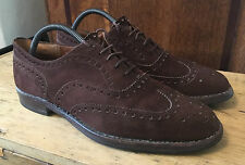 GORGEOUS CHURCH BROWN SUEDE BUCK BROGUE BROGUES SHOES UK 9 COST £345 CHURCH'S