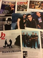 U2, Lot of Five Full Through Three Page Clippings