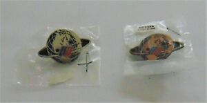 Vintage United Airlines Worldwide Service Pins One Gold Tone One Silver Tone NIP