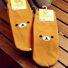 FD4305 Cartoon Rilakkuma San-X Relax Bear Cotton Soft Socks 23-25cm 1 Pair♫