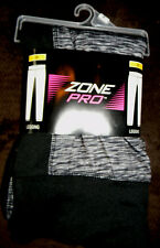 "NWT ZONE PRO PLUS SZ 3X GRAY W/BLACK LEGGINGS 5'2""-6'--190-250 LBS POLY SPANDEX"