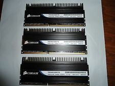 * CORSAIR DOMINATOR 6GB (3x2GB) DDR3 12800 1600 * CL7 *7-7-7-20* Low Latency