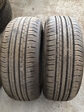 Pair Of 195/55/15 Partworns Tyres Evergreen Dynacomfort V rate 7mm Tread