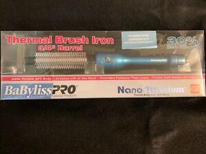 "Babyliss Pro Nano Titanium 3/4"" Thermal Brush Curling Hair Styler Iron"