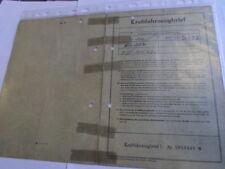 INFORME DE ÉPOCA 1958 NSU Fiat 103 D 1100 NECKAR 40 PS weinsberg Hoja datos LE