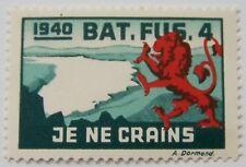 Switzerland/Schweiz - Soldatenmarke 1940 Bat. Fus. 4 - je ne crains MNH