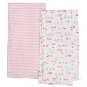 4-Pack Girls Love Organic Flannel Blankets