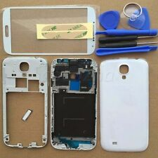 Full Housing Case Cover + Screen Glass For Samsung Galaxy S4 4G LTE i9505 White