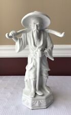 Vintage Chinese Porcelain Farmer Statue/ Figurine, 12""