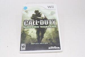 Call of Duty: Modern Warfare Reflex Edition Nintendo Wii Complete Case & Manual