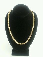"14k YELLOW GOLD ROPE NECKLACE LINK 21"" CHAIN"