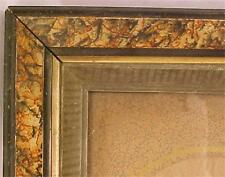 Antique Picture Frame Sponge Decorated Wood & Gilt Small A Beauty