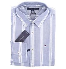 Tommy Hilfiger Men Long Sleeve Custom Fit Button Down Stripe Casual Shirt $0Ship