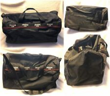 EUC Drakkar Noir Black Duffle Bag Race Weekend  Travel Luggage Nylon Free Ship