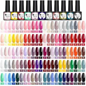 UR SUGAR 137 Farben UV Gel Nagellack Glitter lila Top Base Coat Gel Lack 7.5ml