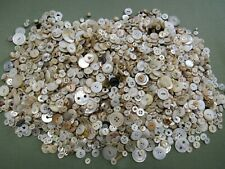 Vintage and Antique Mother Of Pearl Abalone White Buttons Lot 5lbs Button Lot