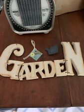 New Garden Sign 11� Long And Sign 4� Tall Has Wire Hanger