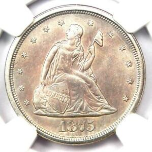 1875-S Twenty Cent Coin 20C - NGC Uncirculated Detail (UNC MS) - Rare Type Coin!